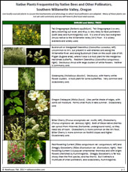 Native Plants Frequented by Native Bees